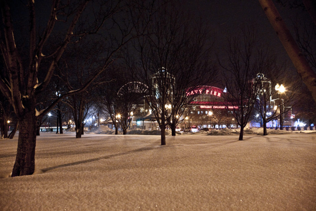 Navy Pier in Winter